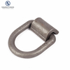 Bolt on tie down anchor forged metal d shaped lashing ring